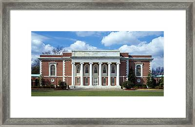 Facade Of A Library, Lilly Library Framed Print
