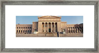 Facade Of A Museum, Field Museum Framed Print by Panoramic Images
