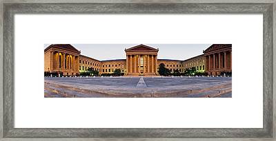 Facade Of A Museum, Philadelphia Museum Framed Print by Panoramic Images