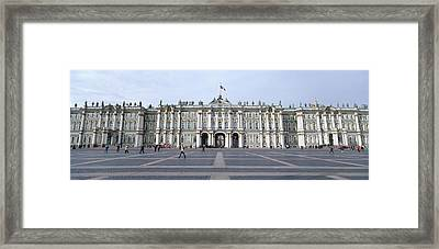 Facade Of A Museum, State Hermitage Framed Print by Panoramic Images