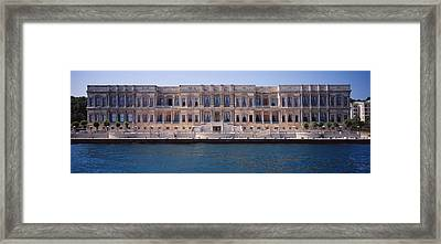 Facade Of A Palace At The Waterfront Framed Print by Panoramic Images