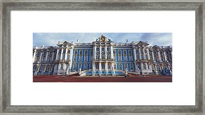 Facade Of A Palace, Catherine Palace Framed Print by Panoramic Images