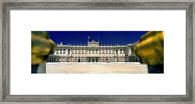 Facade Of A Palace, Madrid Royal Framed Print by Panoramic Images