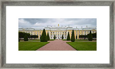 Facade Of A Palace, Peterhof Grand Framed Print by Panoramic Images