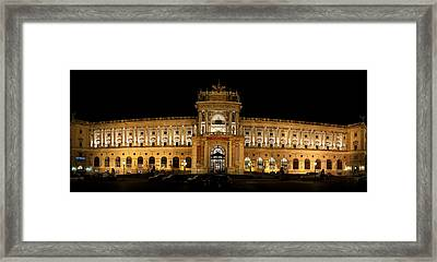Facade Of A Palace, The Hofburg Framed Print