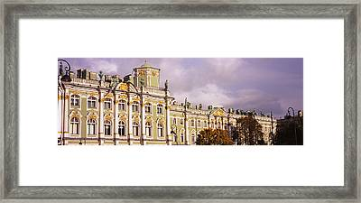Facade Of A Palace, Winter Palace Framed Print by Panoramic Images