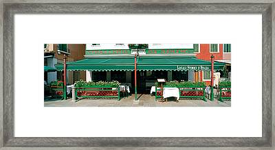 Facade Of A Restaurant, Burano, Venice Framed Print by Panoramic Images