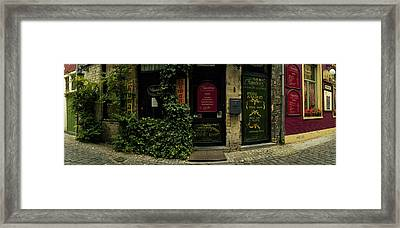 Facade Of A Restaurant, Patershol Framed Print by Panoramic Images