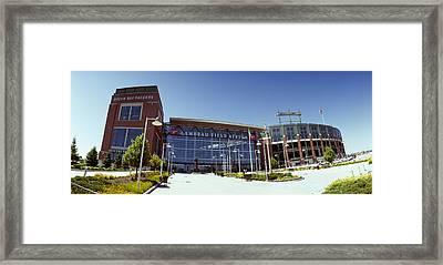 Facade Of A Stadium, Lambeau Field Framed Print