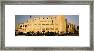 Facade Of A Stadium, Old Comiskey Park Framed Print by Panoramic Images