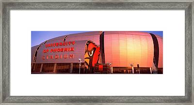 Facade Of A Stadium, University Framed Print by Panoramic Images