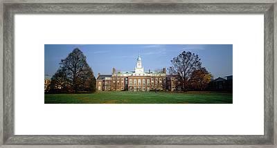 Facade Of A University, Princeton Framed Print