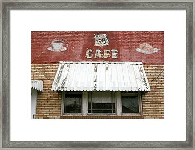 Facade Of An Abandoned Cafe Framed Print by Julien Mcroberts