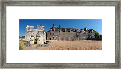 Facade Of An Abbey, La Chartreuse Du Framed Print by Panoramic Images