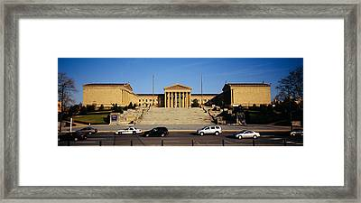 Facade Of An Art Museum, Philadelphia Framed Print