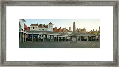 Facade Of An Old Fish Market, Vismarkt Framed Print