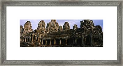 Facade Of An Old Temple, Angkor Wat Framed Print