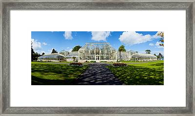 Facade Of Curvilinear Glass House Framed Print by Panoramic Images