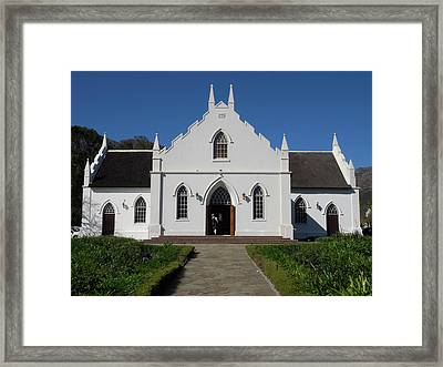 Facade Of Dutch Reformed Church Framed Print by Panoramic Images