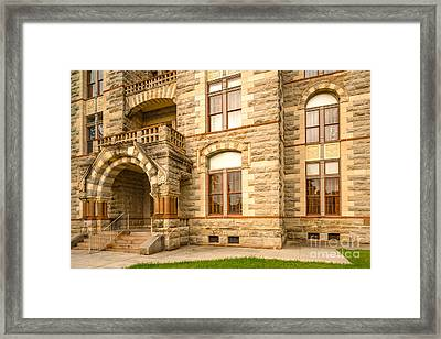 Facade Of Fayette County Courthouse - La Grange Texas Framed Print by Silvio Ligutti