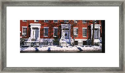 Facade Of Houses In The 1830s Federal Framed Print