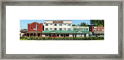 Facade Of Sitka Hotel, Lincoln Street Framed Print