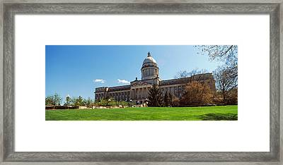 Facade Of State Capitol Building Framed Print
