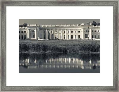 Facade Of The Alexander Palace Framed Print