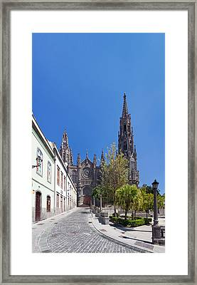 Facade Of The Church Of San Juan Framed Print by Panoramic Images
