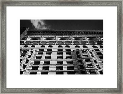 Facade Of The Flatiron Building On Broadway 23rd Street And 5th Avenue New York Framed Print