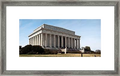 Facade Of The Lincoln Memorial, The Framed Print