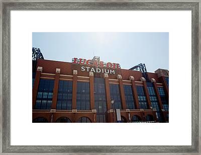 Facade Of The Lucas Oil Stadium Framed Print