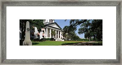 Facade Of The Old Florida State Framed Print