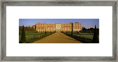 Facade Of The Palace, Hampton Court Framed Print