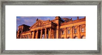 Facade Of The Parliament Building Framed Print