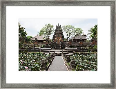 Facade Of The Pura Taman Saraswati Framed Print by Panoramic Images