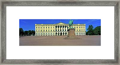 Facade Of The Royal Palace, Oslo, Norway Framed Print by Panoramic Images