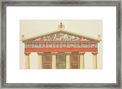 Facade Of The Temple Of Jupiter Framed Print by Daumont