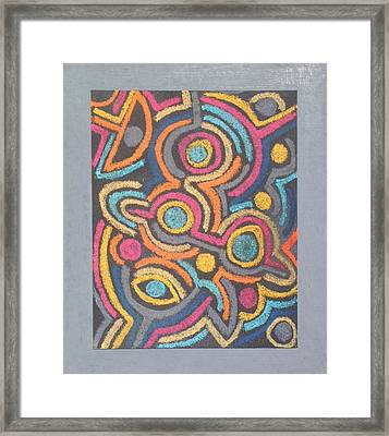 Face 06 Framed Print by Peter-hugo Mcclure