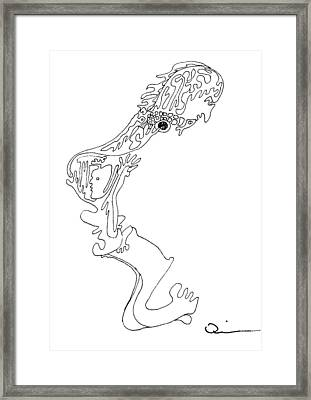 Face 1 Framed Print