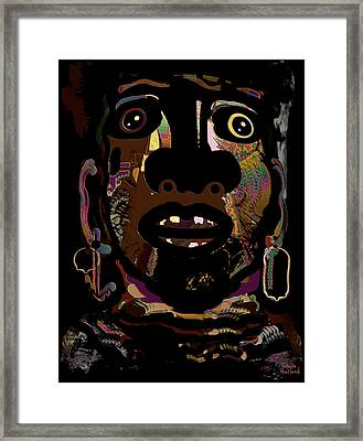 Face 15 Framed Print by Natalie Holland
