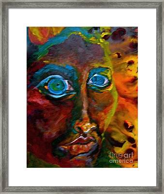 Face 6 Framed Print by Michelle Dommer