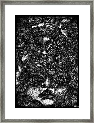 Face And Etc Framed Print by Akiko Okabe