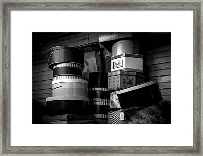 Face Behind The Hat Boxes Framed Print by Bob Orsillo