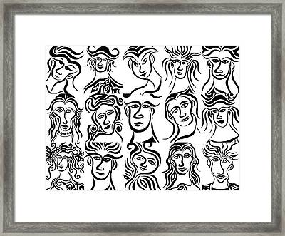 Face Dances Framed Print by Beth Akerman