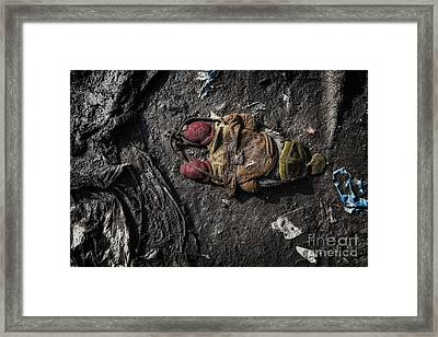 Face Doon In The Dirt Framed Print