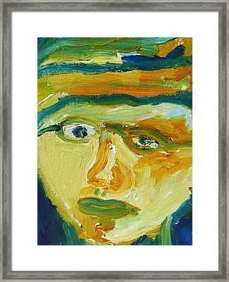 Face Eight Framed Print by Shea Holliman