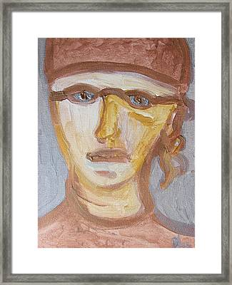 Face Five Framed Print by Shea Holliman