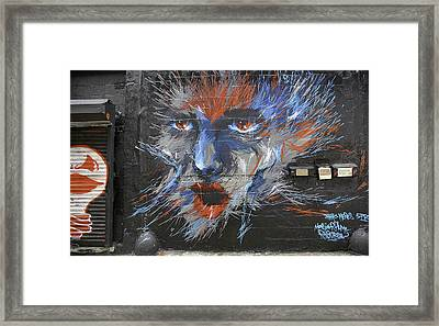 Face Graffiti 2014 Framed Print by E Osmanoglu