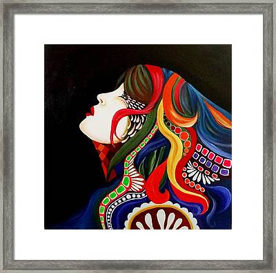 Face In Estasy Framed Print